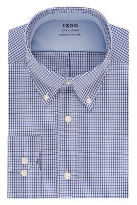Image for IZOD Regular Fit All-Over Stretch Twill Check from PVH Direct